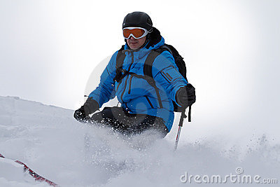 Male skier backcountry