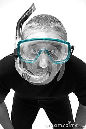 Male in Snorkel