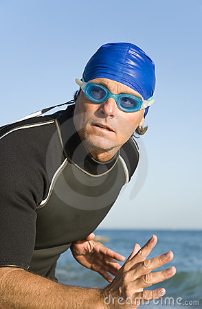 Male swimmer or triathlete