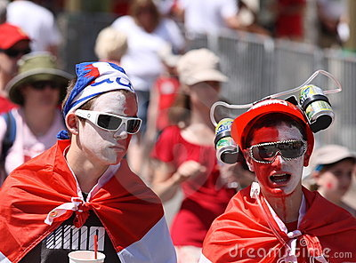 Male Teens on Canada Day Editorial Stock Image