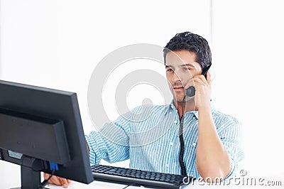 Male telephone operator