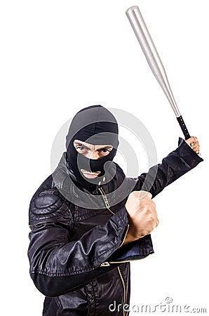 Male thug isolated