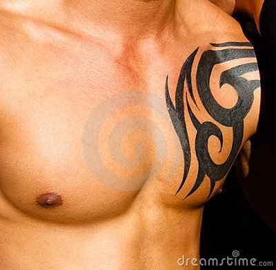 Free Male Torso With Tattoo Royalty Free Stock Photography - 6028317