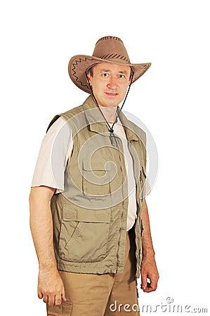 Male tourist