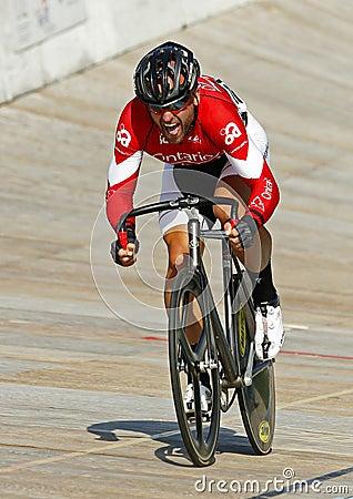 Male track cyclist Editorial Photo