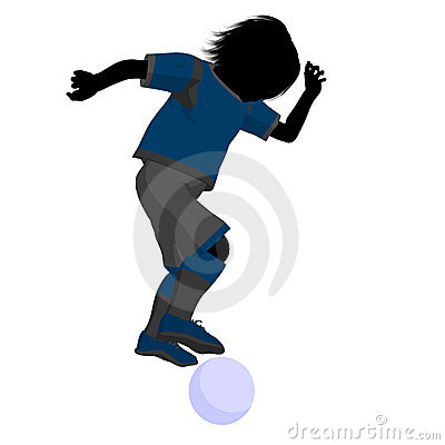 Male Tween Soccer Player Illustration Silhouette