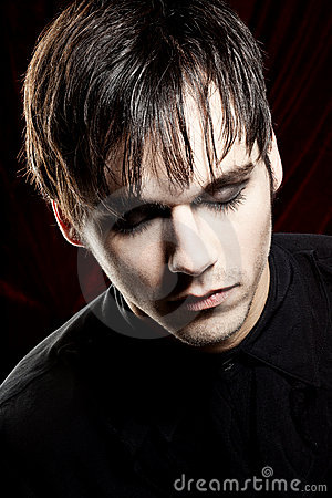 Free Male Vampire Looking Down Royalty Free Stock Image - 20615666