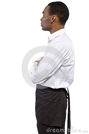 Male Waiter with Apron