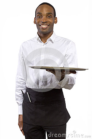 Male Waiter with a Tray