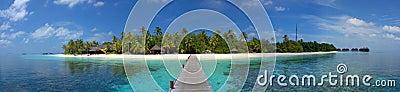 Maledivische eilandtoevlucht