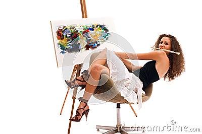 Malerfrau