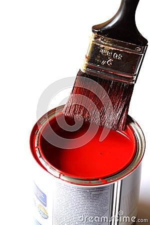 Malerpinsel auf Zinn