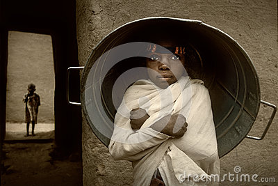 Mali, West Africa - Portrait of Child Editorial Stock Photo