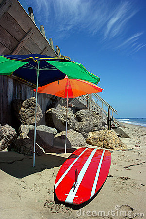 In Malibu beach, California