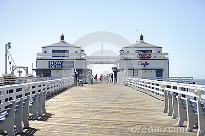Malibu Pier in California Editorial Photography
