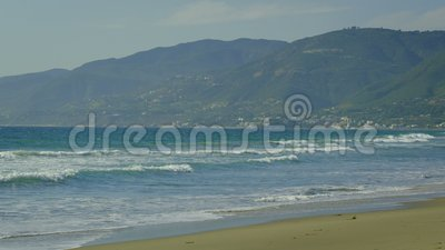 Malibu Strand stock video footage