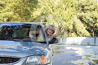 Malicious girl driver