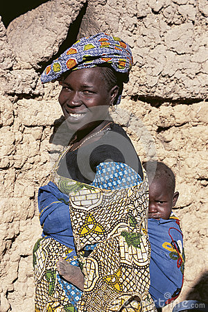 Malinese woman carries her child Editorial Photography