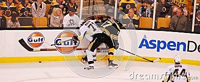 Malkin v. Lucic (Bruins -- Penguins) Editorial Photography