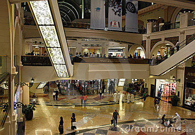 Mall of the Emirates in Dubai Editorial Stock Image
