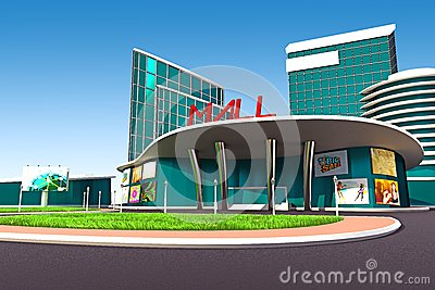 Mall exterior royalty free stock images image 26187559