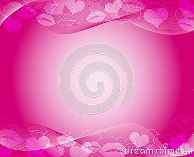 Mall för varma rosa färger