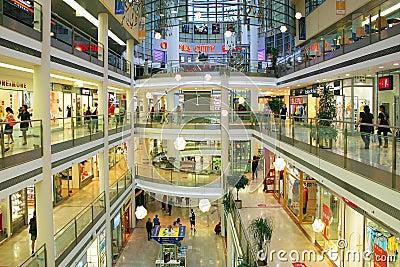 Mall interior in Prague, Czech Republic. Editorial Stock Image