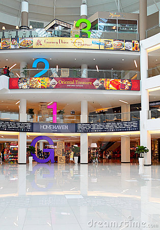 Free Mall Interior With Huge Floor Numbering Royalty Free Stock Images - 20812369
