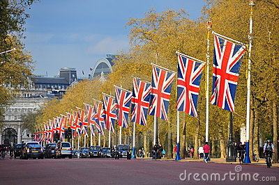 The Mall road, London Editorial Stock Image