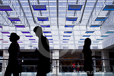 Mall silhouettes