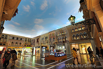 Mall in The Venetian Macao Editorial Photography
