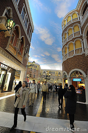 Mall in The Venetian Macao Editorial Stock Image