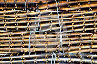 Malla del hierro para el hormig n reforzado foto de - Mallas de hierro ...