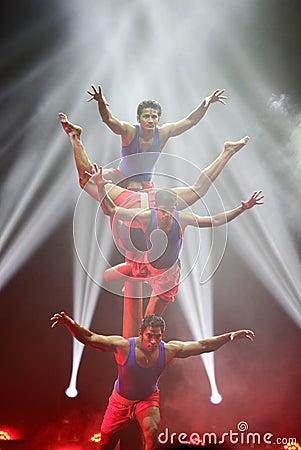 Free Mallakhamb Performance, Mystic India Show At Bahrain Stock Photo - 33595640
