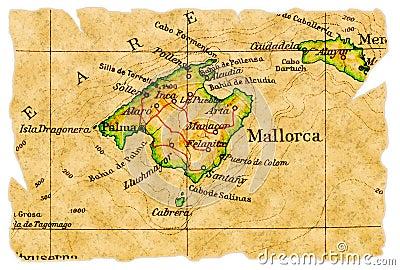 Mallorca-alte Karte