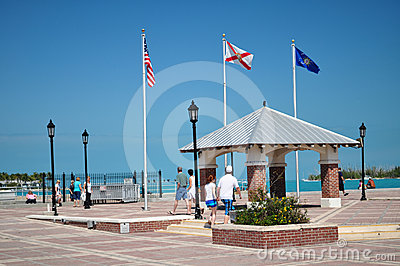 Mallory Square, Key West Florida Editorial Stock Photo