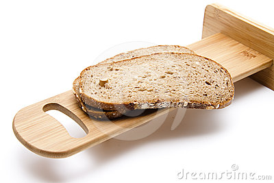 Malt grain bread slice