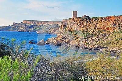 Malta cliffs