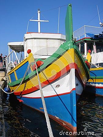 Free Malta Fishing Boat Royalty Free Stock Photography - 57907