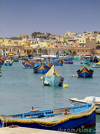 Free Malta Fishing Harbour Royalty Free Stock Photos - 2509288
