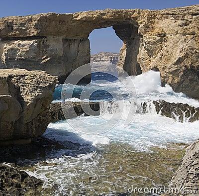 Malta - Gozo - Azure Window Editorial Photo