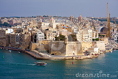 Malta Grand Harbour Editorial Photography