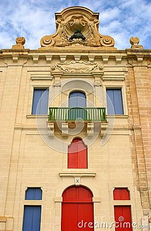 Malta La Valletta Late baroque Facade
