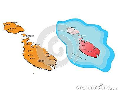 Malta maps