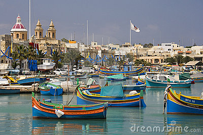 Malta - Marsaxlokk Harbor Editorial Photo