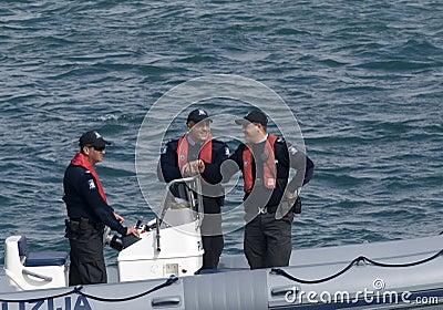 Malta Police ALE Maritime Patrol Editorial Image