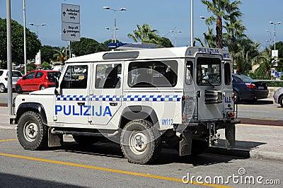 Malta police Landrover 4x4 Editorial Stock Photo