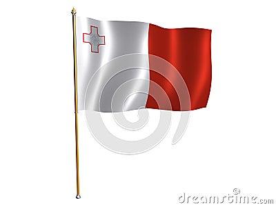 Malta silk flag