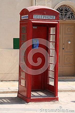 Malta telephone box