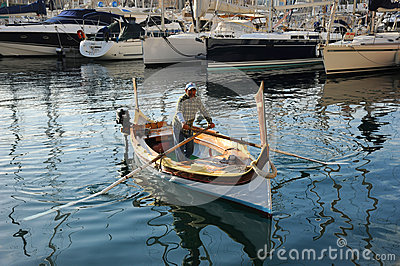 Malta water taxi. Editorial Stock Image